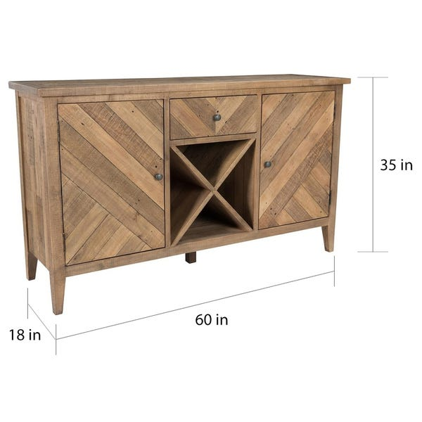 Shop Carbon Loft Chimo Reclaimed Parquet Sideboard - On Sale .