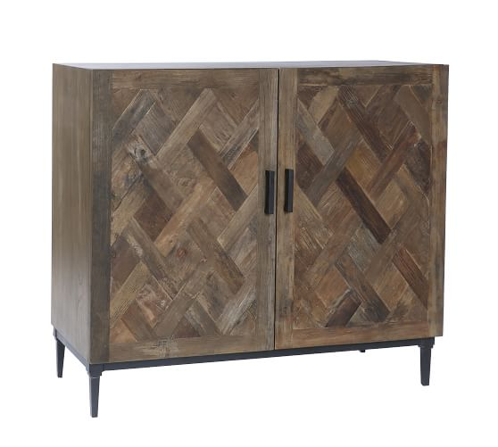 Parquet Two Door Buffet Table | Pottery Ba