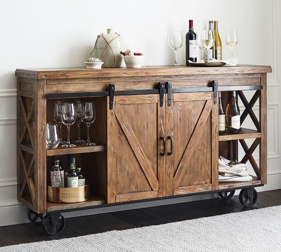 Parrish Bar Cabinet | Home bar cabinet, Bar furniture, Home bar .