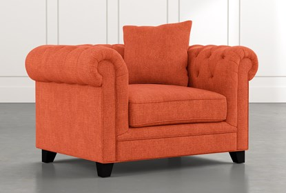 Patterson III Orange Arm Chair | Living Spac