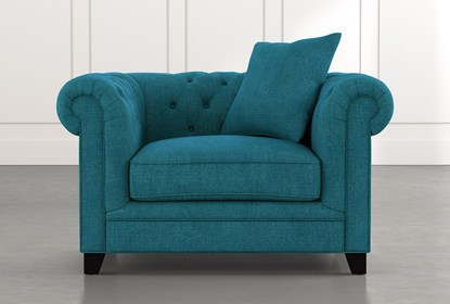 Patterson III Teal Arm Chair | Living Spac