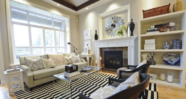 Acrylic Coffee Table - Transitional - living room - Andrea Johnson .