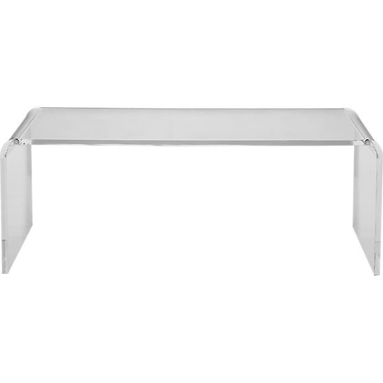 Peekaboo Acrylic Tall Coffee Table | Tall coffee table, Low .