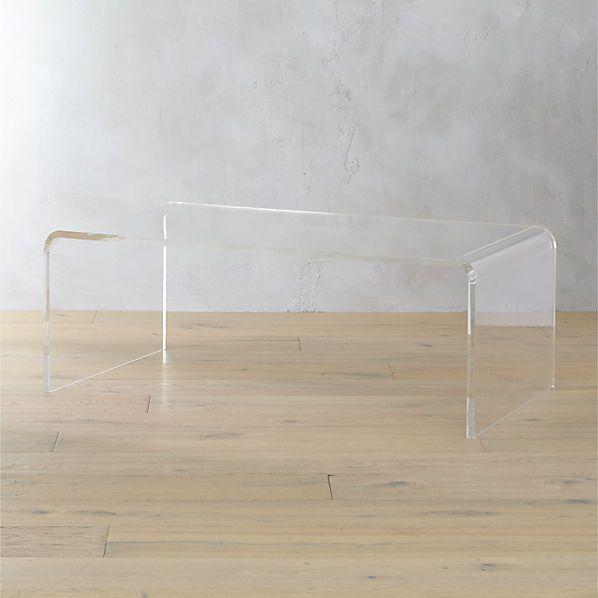 Peekaboo Acrylic Tall Coffee Table + Reviews | Coffee table .