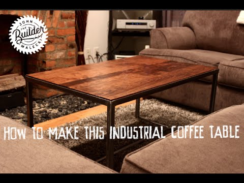 How To Make An Industrial Furniture Wood and Metal Coffee Table .