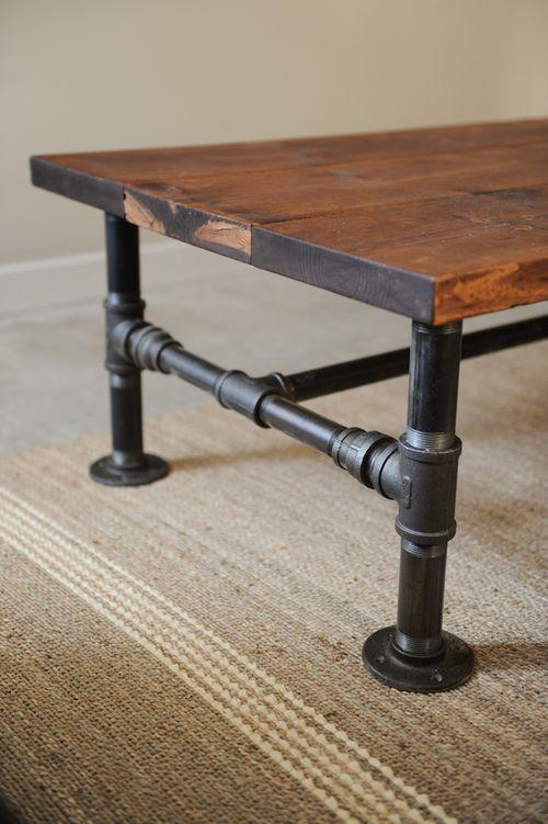 DIY Industrial Coffee Table | Rustic industrial coffee table .