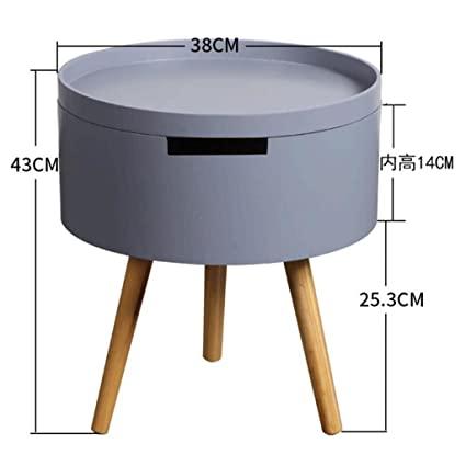 Amazon.com: Tingting Side Table Desk End Bedside Round Storage .