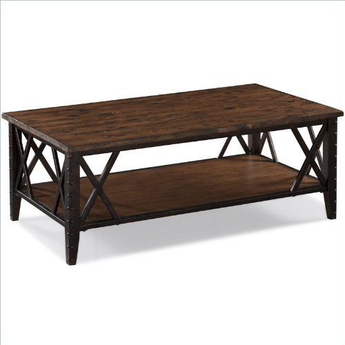 Magnussen Fleming Rectangular Cocktail Table in Rustic Pine by .