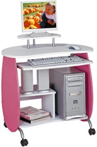 Techni Mobili RTA-Q203PW Kid's Pink and White Compact Computer .