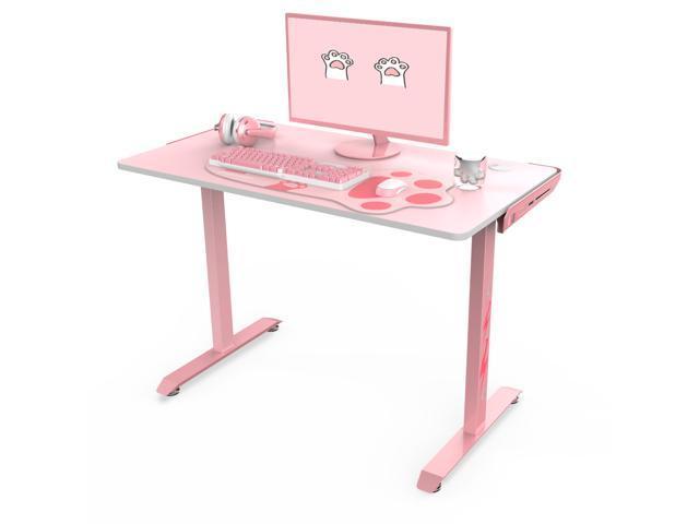 "Eureka Ergonomic I1-S Pink Gaming Desk 43.3"" Small Home Office ."