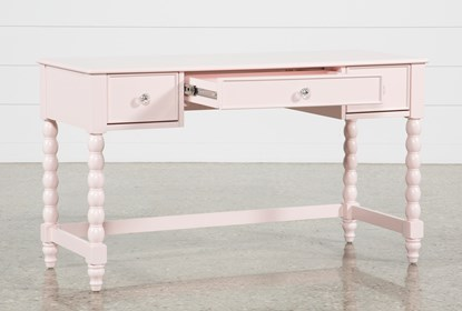Madison Pink Desk With USB | Living Spac