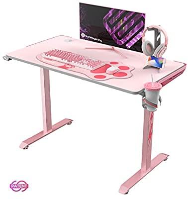 "Amazon.com: EUREKA ERGONOMIC I1-S Gaming Desk 43.3"" Small Home ."