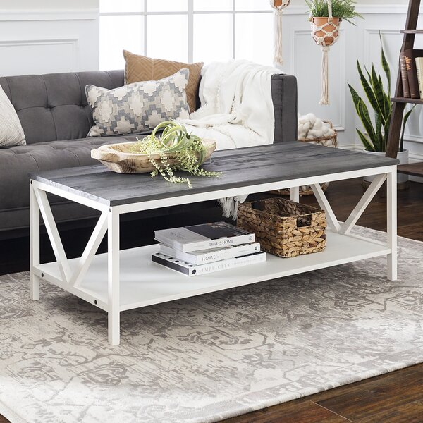 Gracie Oaks Nadell Coffee Table with Storage & Reviews   Wayfa