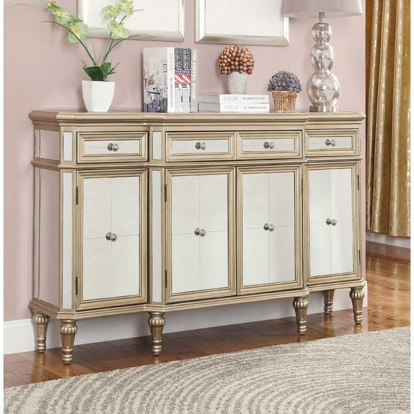"Poston 60"" Wide 4 Drawer Buffet Table 