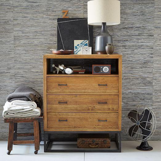 Copenhagen Reclaimed Wood 3-Drawer Dresser - Tall | west elm .