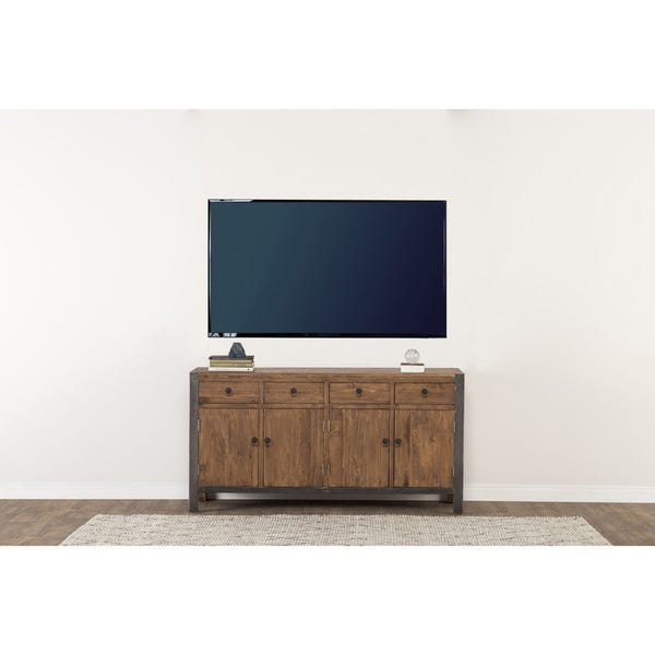 Shop Willow Reclaimed Wood and Iron 70-inch Buffet by Kosas Home .