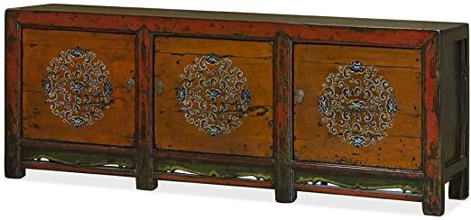 Amazon.com - China Furniture Online Elm Wood Cabinet, Vintage .