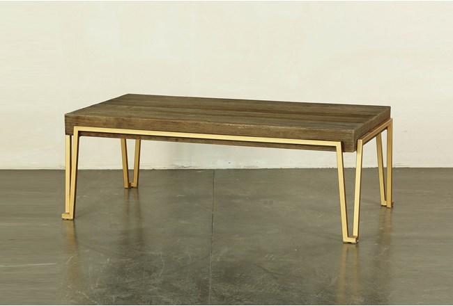 Reclaimed Elm + Iron Coffee Table | Living Spac