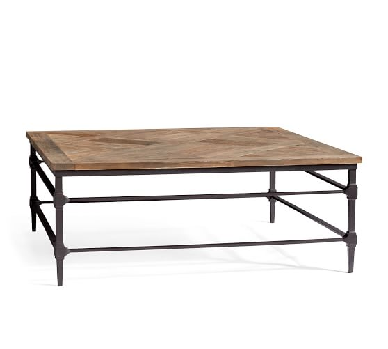 Parquet Square Reclaimed Wood Coffee Table | Pottery Ba