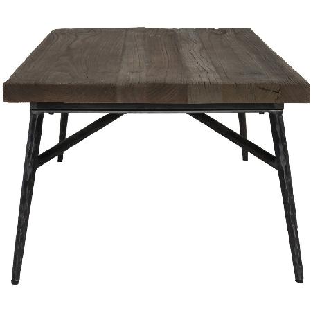 "Graciela 38"" Reclaimed Elm + Iron Coffee Table - Classic Carolina Ho"