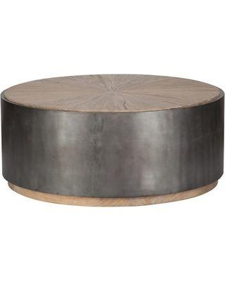 """World Bazaar Exotics 39"""" Diameter Coffee Table Solid Reclaimed Elm ."""
