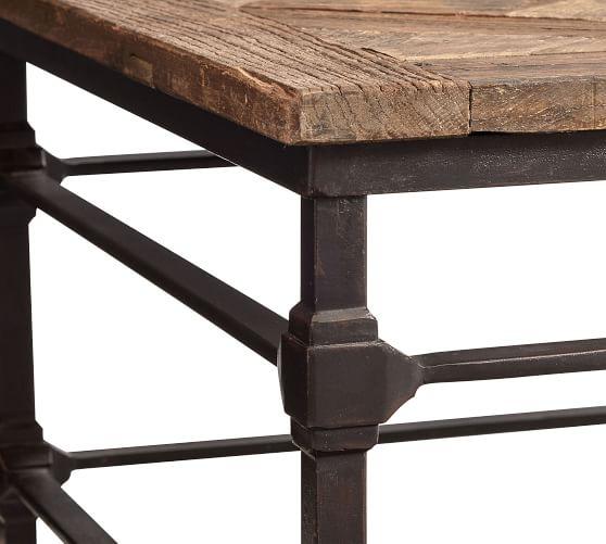 Parquet Rectangular Reclaimed Wood Coffee Table | Pottery Ba