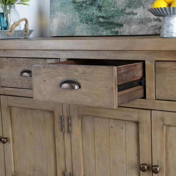 Shop Kasey Reclaimed Pine 4 Drawer 4 Door Sideboard by Kosas Home .