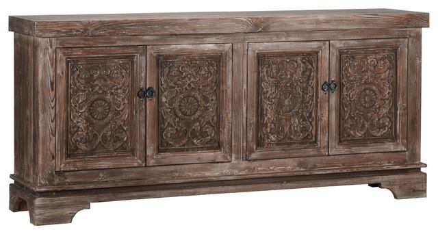 Allen Reclaimed Pine 4 Door Sideboard by Kosas Home - Traditional .