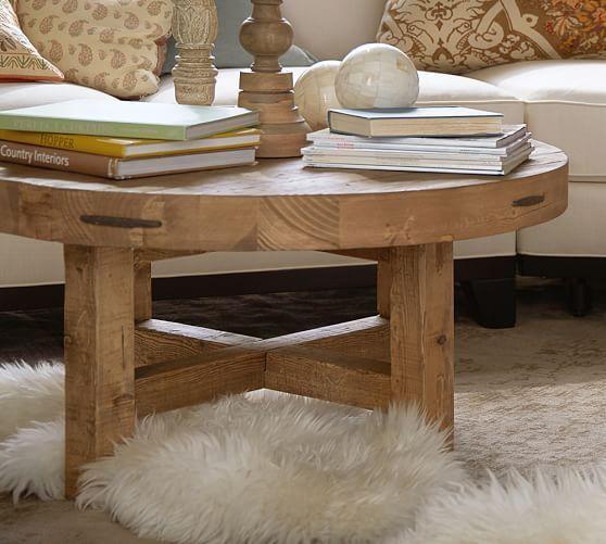 Marietta Round Coffee Table | Coffee table wood, Round coffee .