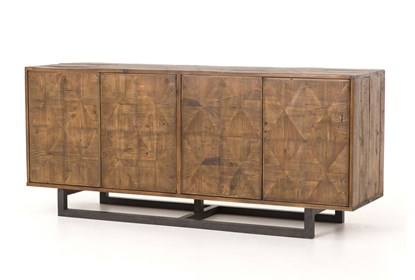 Reclaimed Pine & Iron Base 72 Inch Sideboard | Living Spac