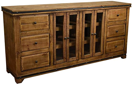 Amazon.com: Crafters and Weavers Addison Rustic Reclaimed Solid .