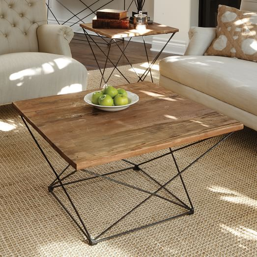 Angled Base Coffee Table | Coffee table, Unique coffee table .