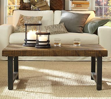 Griffin Reclaimed Wood Coffee Table | Coffee table pottery barn .