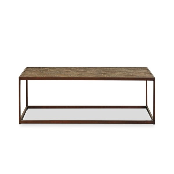 Shop West Reclaimed Pine and Metal Coffee Table - Overstock - 303923