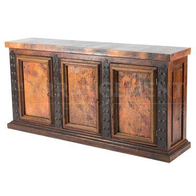 Three Panel Copper Sideboard | Western furniture, Metal sideboard .