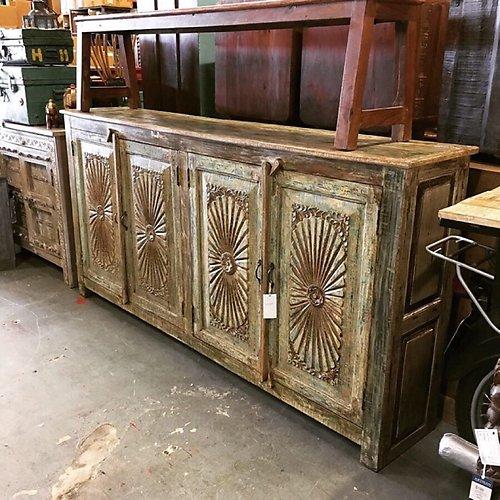 Artisan Furniture & Finds. Sold Carved Reclaimed Wood Sideboa