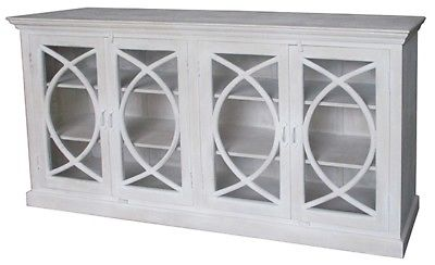 """81"""" L Rosa Sideboard Reclaimed Mango Wood Hand Crafted 4 Glass ."""
