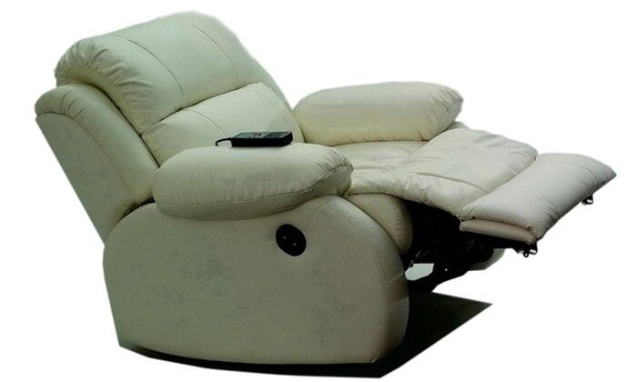 Free Shipping Modern Design luxury 1+2+3 modern reclining sofas .