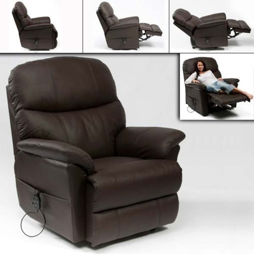 Keerthi Furniture Brown Leather Recliner Sofa, Rs 34000 /piece .
