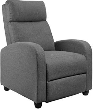 Amazon.com: JUMMICO Fabric Recliner Chair Adjustable Home Theater .