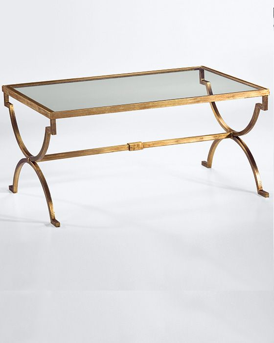 rectangular wrought iron coffee table with distressed antiqued .