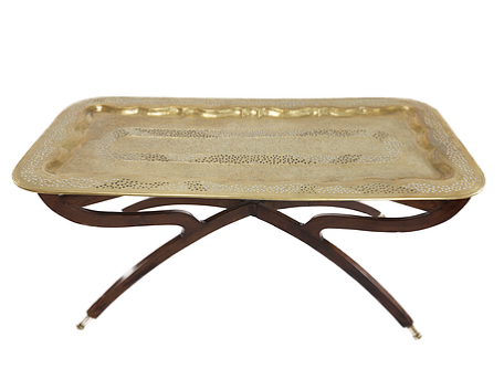 Brass Moroccan Table on spider legs   Moroccan table, Brass tray .
