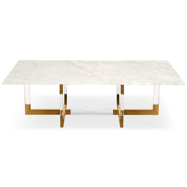 Modern Brass, Wood, Glass Coffee Tables - ModSh