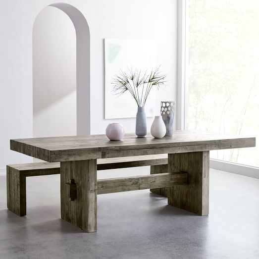 Emmerson® Reclaimed Wood Dining Table - Stone Gr