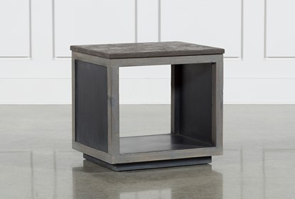 Recycled Pine Stone Side Table | Living Spac