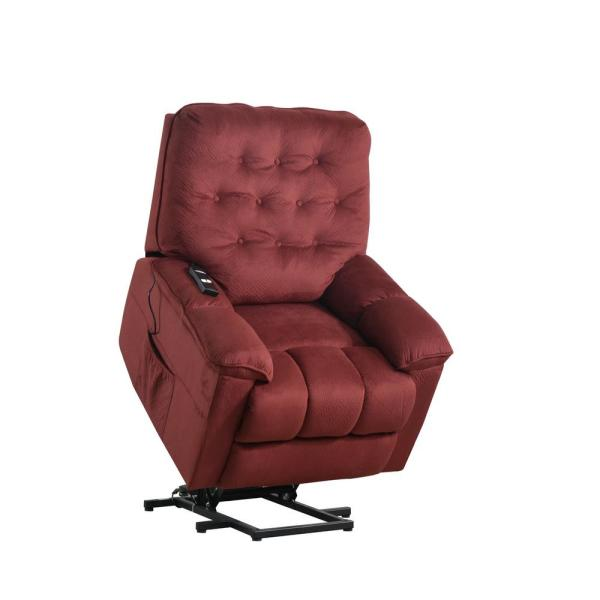Boyel Living Red Power Lift with Remote Soft Upholstery Recliner .