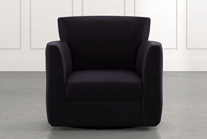 Revolve Black Swivel Accent Chair | Living Spac