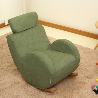 Baby child rocking chair child solid wood sofa chair rocking chair .