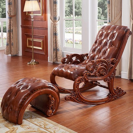 China Furniture Factory Wholesale Wood Rocking Chair with Sofa .