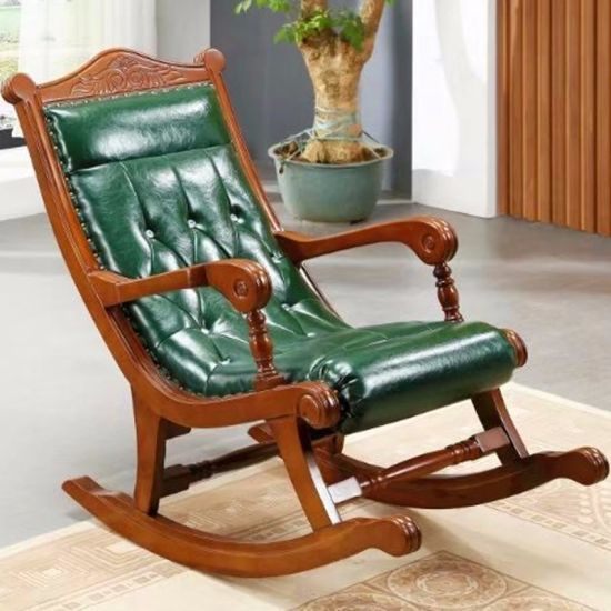 China Living Room Furniture with Leather Rocking Sofa Chairs .